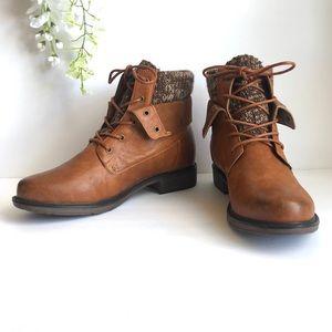 PIERRE DUMAS Vegan Leather Convertible Ankle Boots